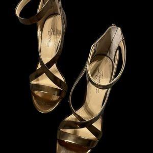 Vince Camuto bronze heels